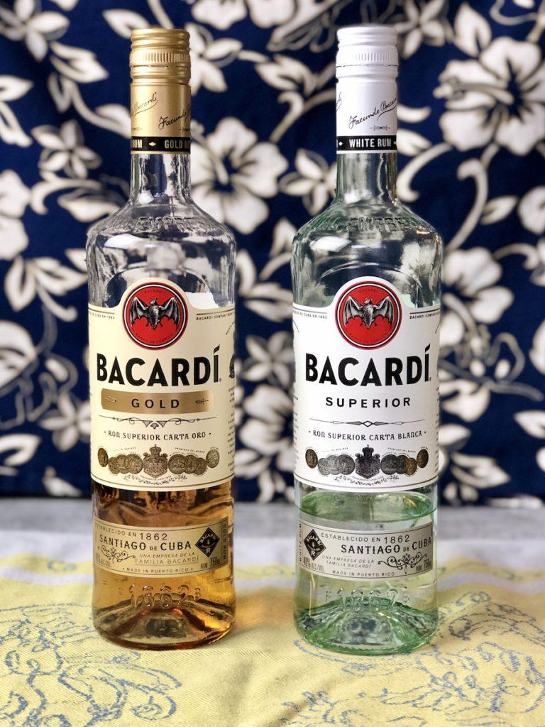 botelas rones bacardi