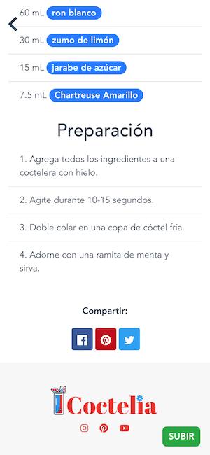 receta app cocteles